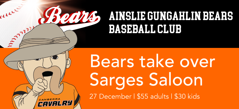 The Bears take over Sarges Saloon